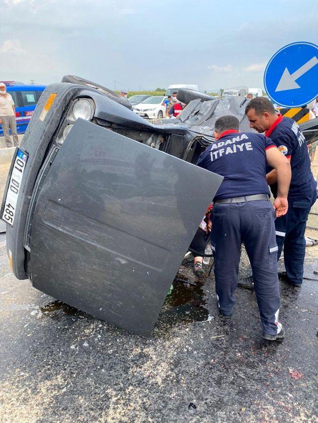 Kozan'da trafik Kazası: 5 yaralı