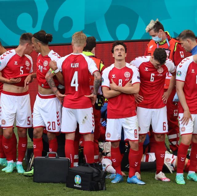Son Dakika: EURO 2020'de kahreden anlar! Christian Eriksen'in kalbi durdu