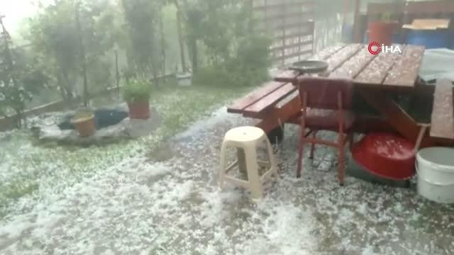 Dolu yağışı yaylaları vurgu, ekili alanlar zarar gördü