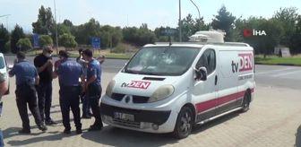 Emin Aydın: Yerel televizyonun yayın aracına faili meçhul saldırı