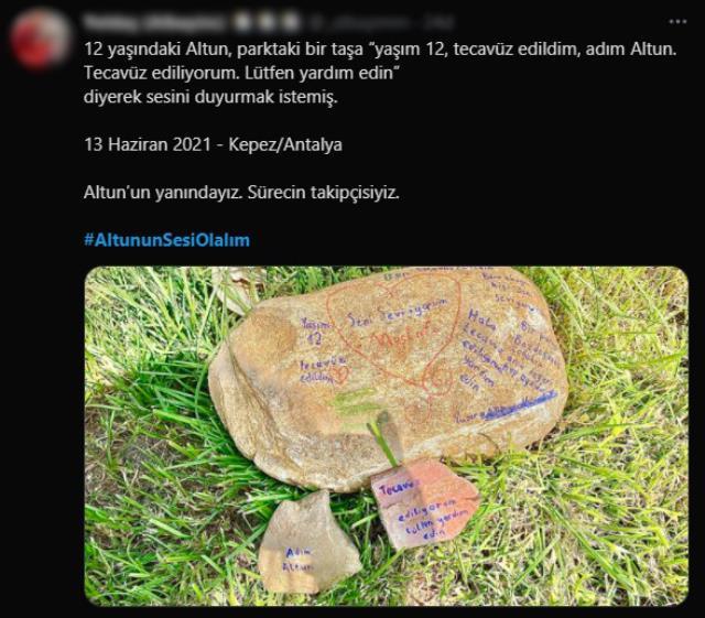 Taşa yazılan 'Adım Altun, yaşım 12 ve tecavüze uğruyorum' yazısı polisi alarma geçirdi