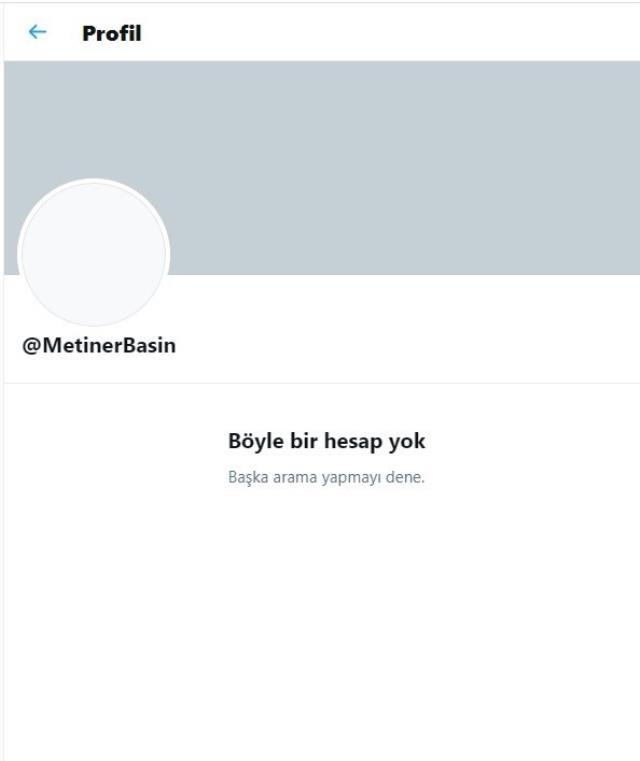 AK Partili Metiner, Cumhurbaşkanı Erdoğan'ın harekete geçmesini istediği iddialarının ardından paylaşımını silip, sosyal medya hesabını kapattı
