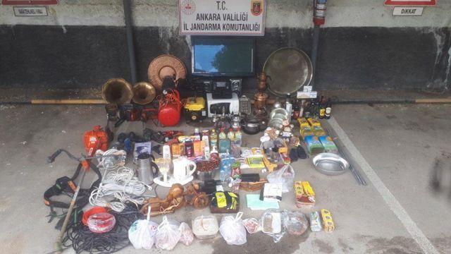 Ankara'da evlerden hırsızlık yaptığı belirlenen şüpheli yakalandı