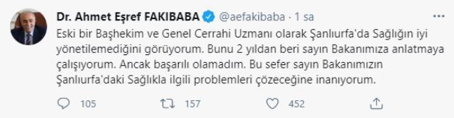Bakan Koca'yı eleştirdi, Sağlık Müdürü görevden alındı! AK Partili Fakıbaba ses getiren tweet'ini sildi