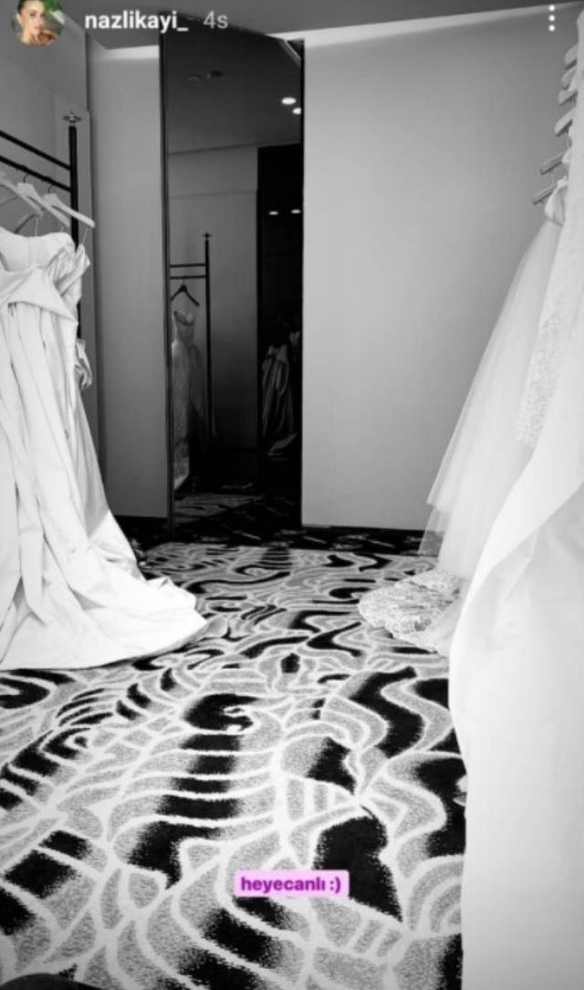 Hacı Sabancı ile düğün hazırlıklarına başlayan Nazlı Kayı, gelinlik seçmeye gitti