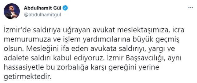 Hacze giden avukatın kafasına silah dayayan şahsa Adalet Bakanı Gül'den sert tepki: Adalete saldırı kabul ediyoruz