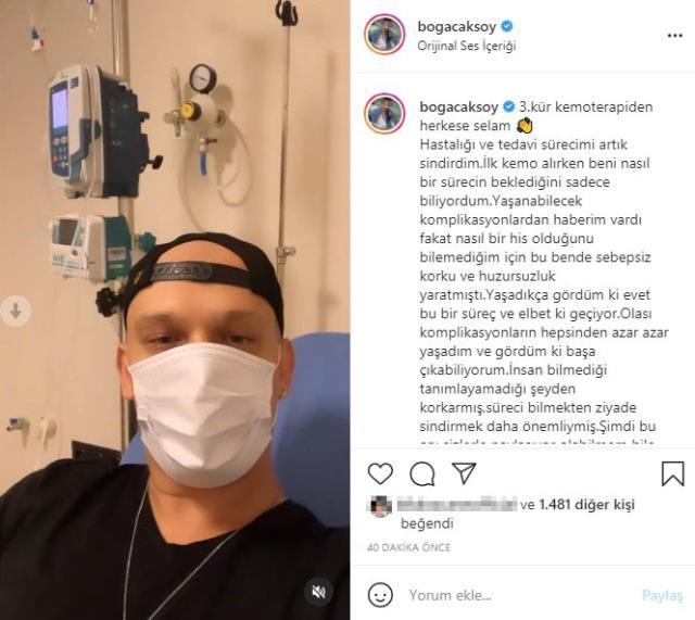Lenfoma kanserine yakalanan oyuncu Boğaç Aksoy, kemoterapi aldığı anları paylaştı