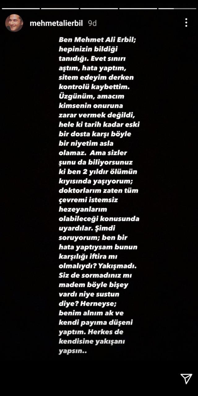 Mehmet Ali Erbil'den Seda Sayan'ın tecavüz suçlamasına zehir zemberek cevap: Bu iftira yakışmadı