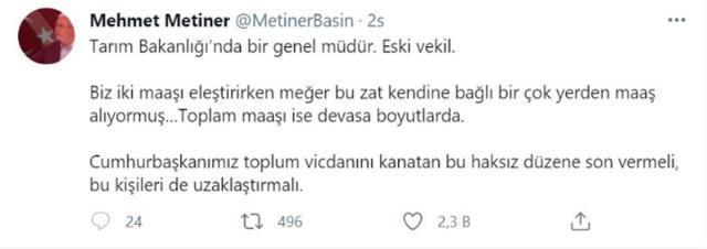 Mehmet Metiner, sildiği 'çift maaş' paylaşımının ardından sosyal medya hesabını kapattı