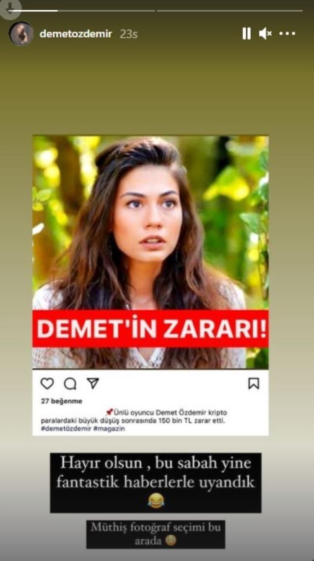 Oyuncu Demet Özdemir, kripto para piyasasında 150 bin TL kaybettiği iddiasını yalanladı