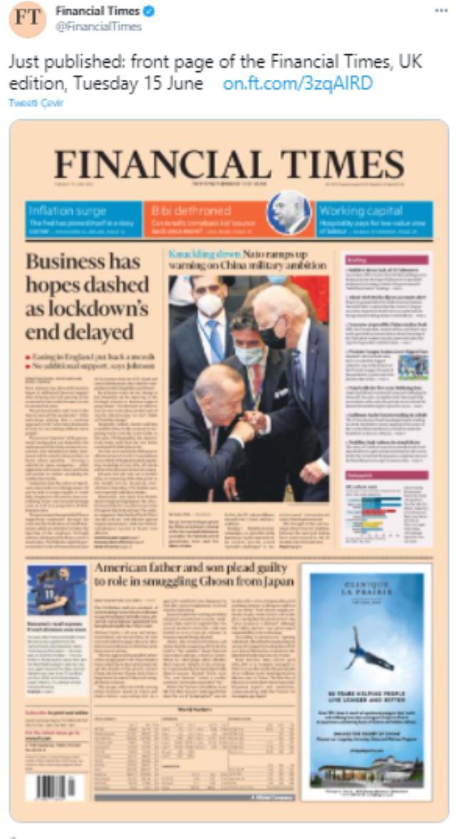 Yabancı basın, Erdoğan ve Biden'ın tokalaştığı anı çarpıtarak servis etti