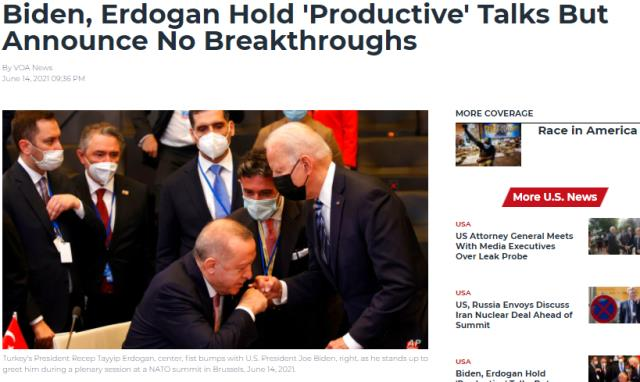 Yabancı basın Erdoğan ve Biden'ın tokalaştığı anı çarpıtarak servis etti