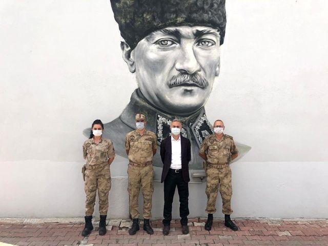 Son dakika: Başkan Öztürk'ten Jandarmaya kutlama ziyareti
