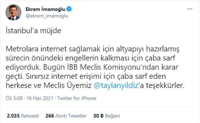İstanbullulara müjde! Metroya sınırsız internet geliyor