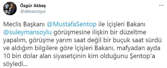 Meclis Başkanı Mustafa Şentop, İçişleri Bakanı Süleyman Soylu ile görüştü