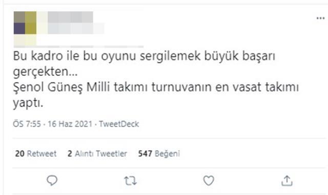 Milli Takım Teknik Direktörü Şenol Güneş'e sosyal medyada tepki yağıyor