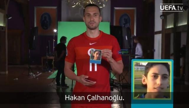 UEFA, Galler maçı öncesi Milli Takımımız'ın futbolcularına eğlenceli bir sınav yaptı