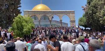 İsrail: İsrail polisi Mescid-i Aksa'da Filistinlilere müdahale etti