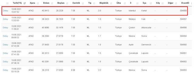 Kartal ve Sultanbeyli'de deprem mi oldu? 19 Haziran Kartal ve Sultanbeyli depremi kaç şiddetinde, merkez üssü hangi bölge, mahalle?