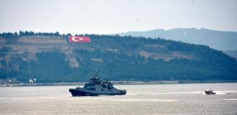 Russian warships passed through Canakkale Strait to Aegean Sea