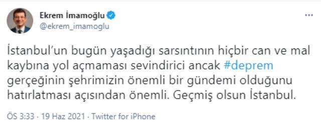 Son Dakika: İstanbul'da 3.9'luk deprem! Merkez üssü Kartal