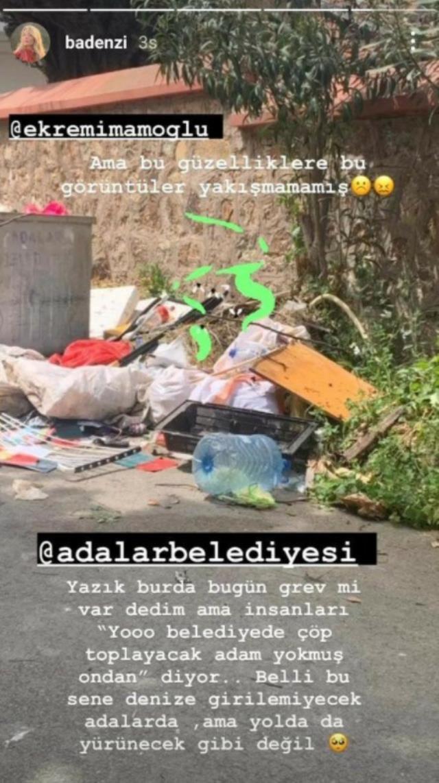 Annesini ziyarete giden Bade İşçil, gördüğü çöp manzarası sonrası İmamoğlu'na sitem etti