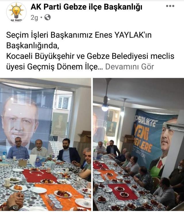AK Parti'nin ilçe toplantısında Türk Bayrağı sofra bezi yapıldı! Skandal fotoğraflara tepki yağdı