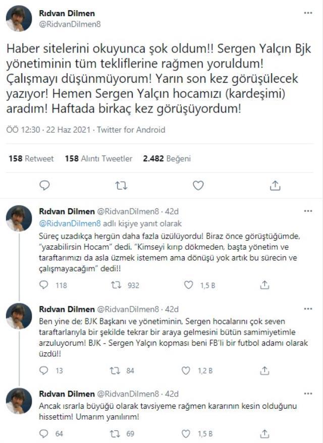 Beşiktaş'ta Sergen Yalçın depremi: Dönüşü yok artık, çalışmayacağım