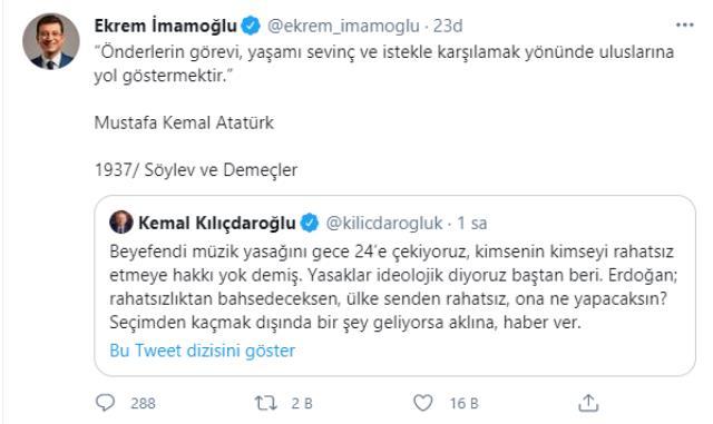 İBB Başkanı İmamoğlu, Cumhurbaşkanı Erdoğan'ın 'Kusura bakmasınlar' ifadelerine Atatürk'ün sözüyle yanıt verdi