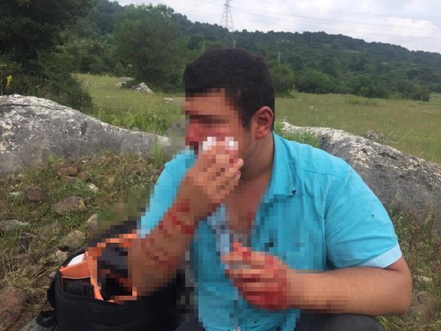 Lütfü Türkkan'ın kaçak çiftliğin yıkımını görüntüleyen muhabir darbedildi