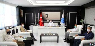 Mustafa Doğan: TÜRES Kilis Şube Başkanı Aktaş, Rektör Karacoşkun'la bir araya geldi