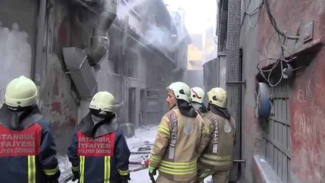 Bayrampaşa'da sanayi bölgesinde patlama