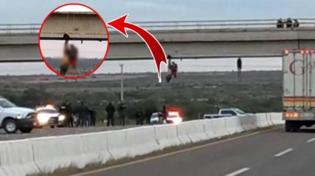Dünya bu vahşeti konuşuyor! Uyuşturucu satıcıları, öldürdükleri insanları çıplak bir şekilde köprüye astı