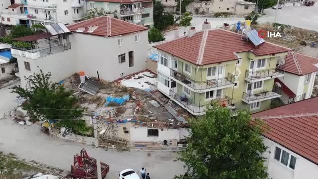 3 katlı binanın en alt katındaki daireyi kiralayıp, kaçak kazıyla yeraltı şehri buldular