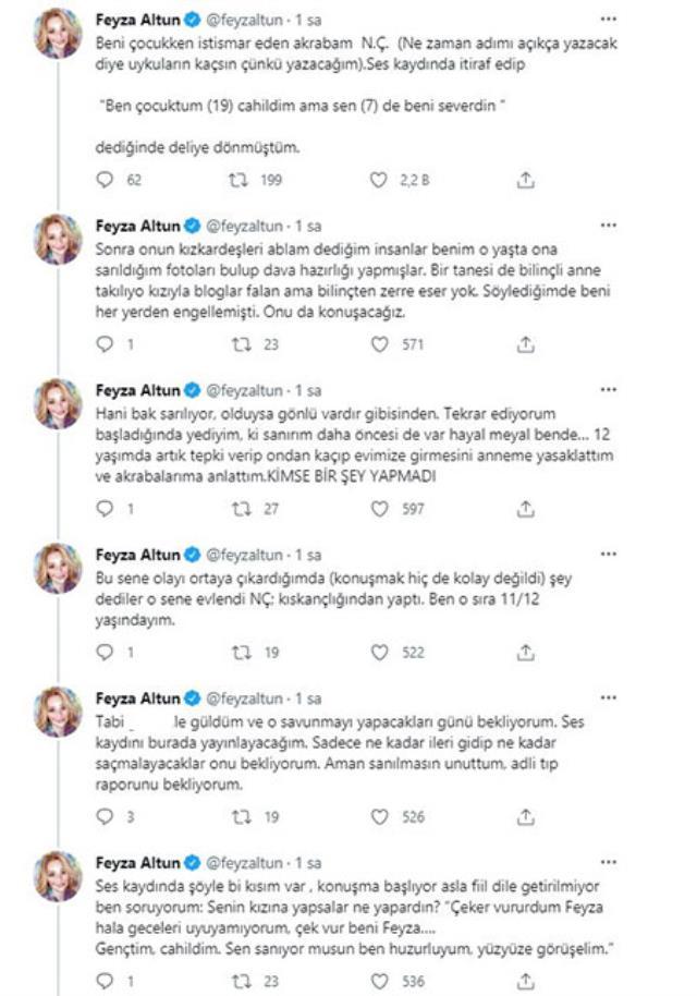 Avukat Feyza Altun, yıllar sonra akrabasının cinsel istismarına uğradığını açıkladı: Sen benim abimdin