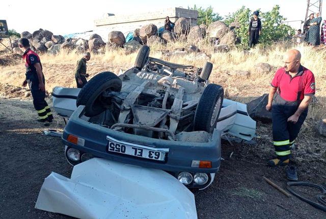 Kontrolden çıkan otomobil takla attı: 1 ölü, 3 yaralı
