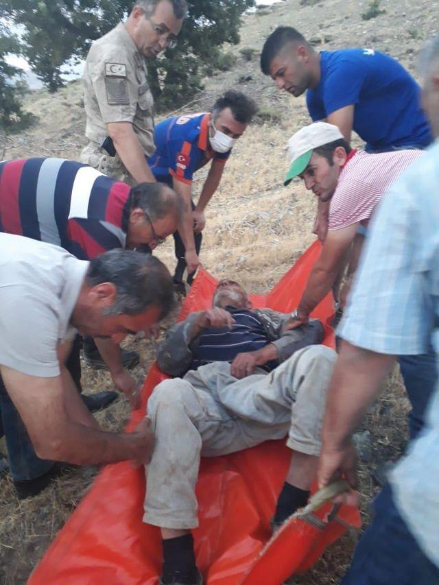 Adıyaman'da iki gündür kayıp olan yaşlı adam ormanlık alanda bulundu