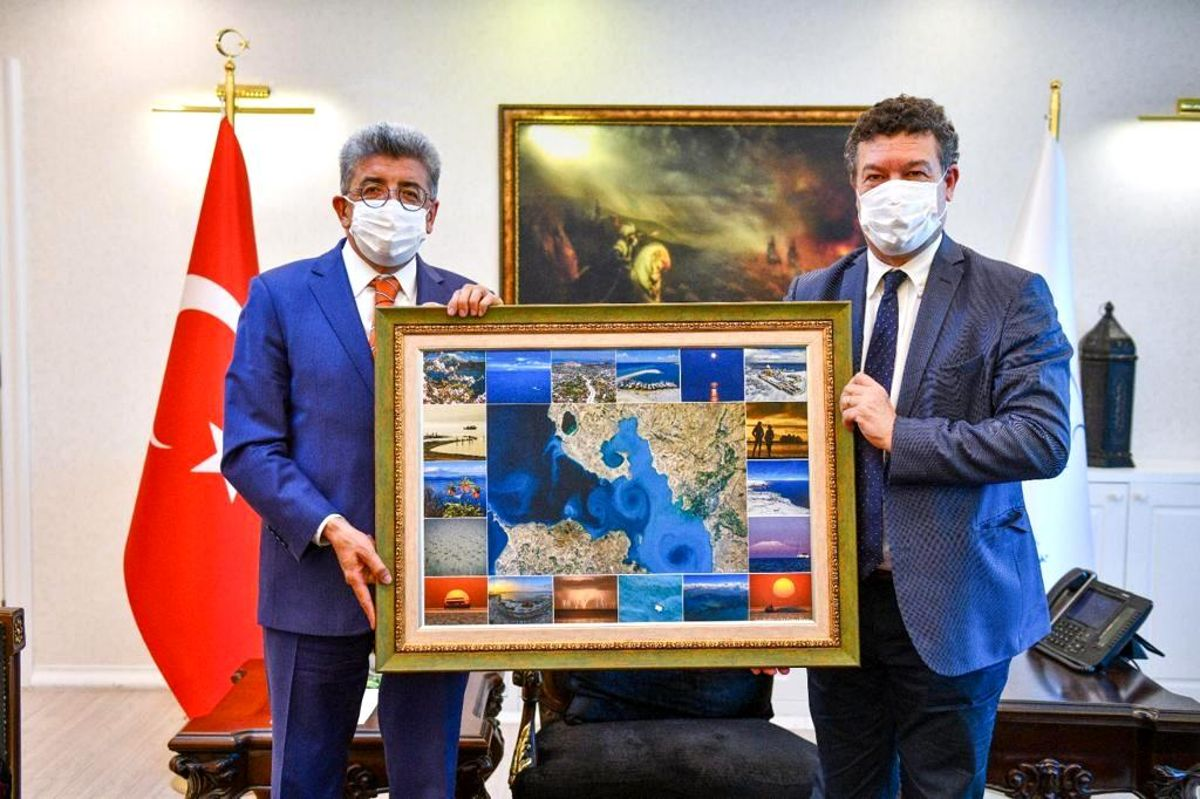Van Valisi Bilmez, Birleşmiş Milletler Mülteciler Yüksek Komiserliği Türkiye Temsilcisi Leclerc'i kabul etti