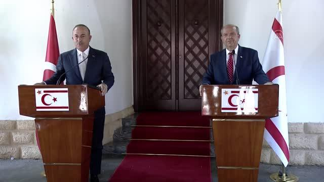LEFKOŞA (AA) - Dışişleri Bakanı Çavuşoğlu: 'Kıbrıs Türk halkını azınlık olarak gören bu zihniyeti biz de artık yok sayıyoruz'