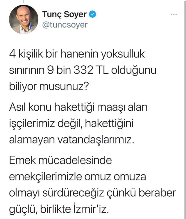 İzmir Büyükşehir Belediyesi'nde en düşük işçi maaşına gösterilen tepkilere Başkan Soyer'den yanıt: Asıl konu hak ettiğini alamayanlar