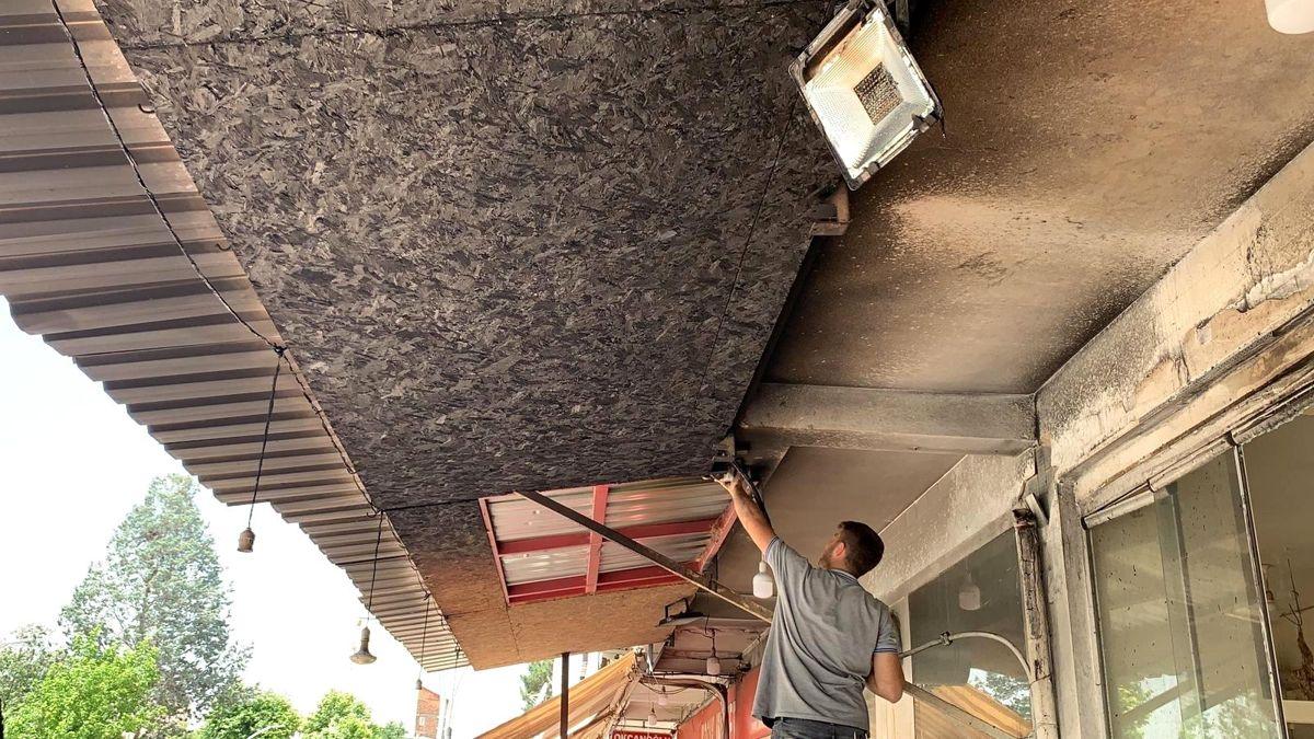 Sungurlu'da kahvehane kundaklandı