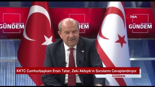 Son dakika haberleri | KKTC Cumhurbaşkanı Tatar: 'Cumhurbaşkanı Recep Tayyip Erdoğan kararlılığını bir kez daha ortaya koymuştur'