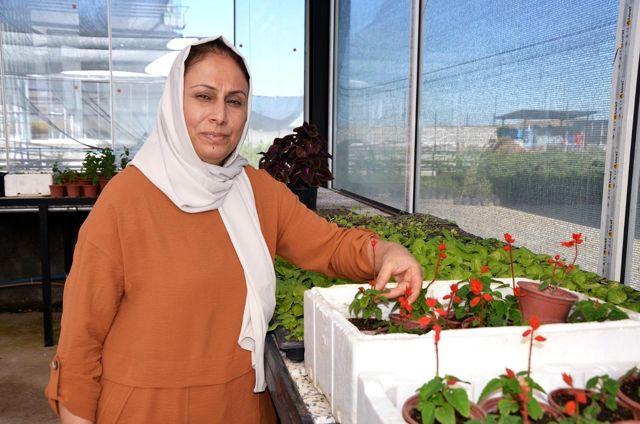 Diyarbakırlı ev hanımı Uygun, Güneydoğu'nun ilk çiçek serasını kurdu