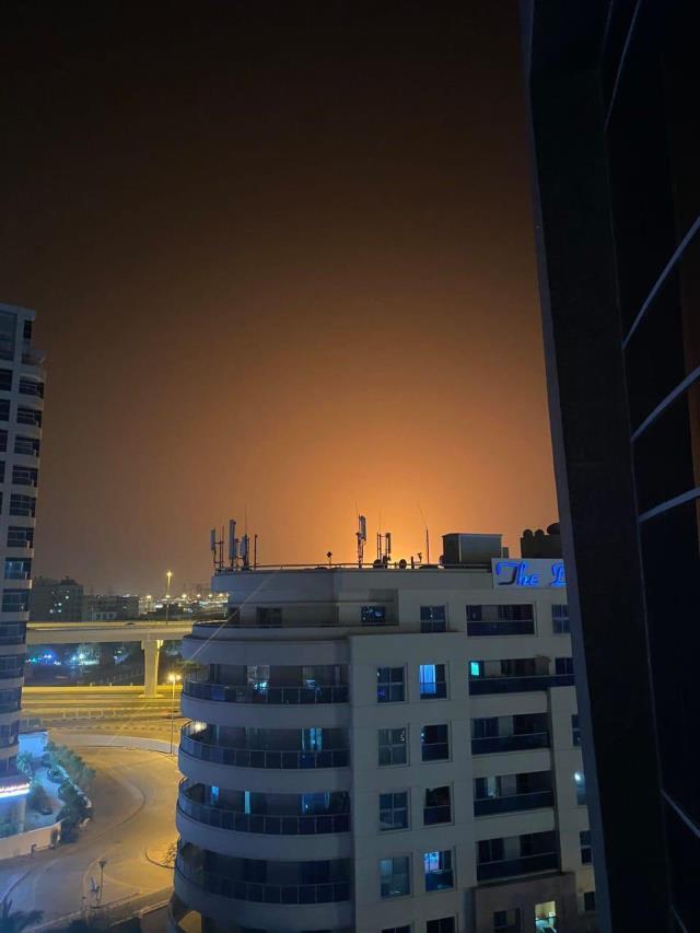 Dubai'de büyük bir patlama meydana geldi