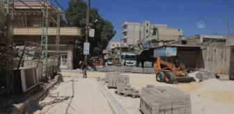 Afrin: Afrin caddeleri peyzaj çalışmalarıyla güzelleşiyor