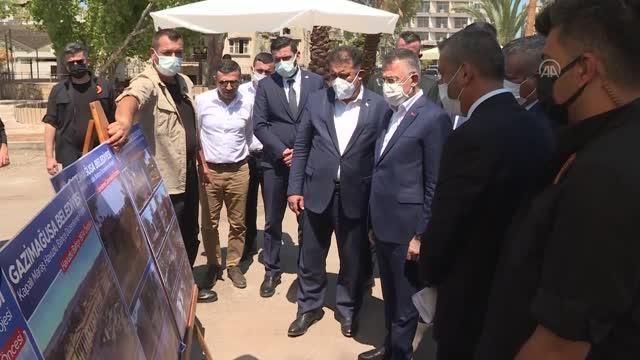 Cumhurbaşkanı Yardımcısı Oktay, Kapalı Maraş bölgesini ziyaret etti