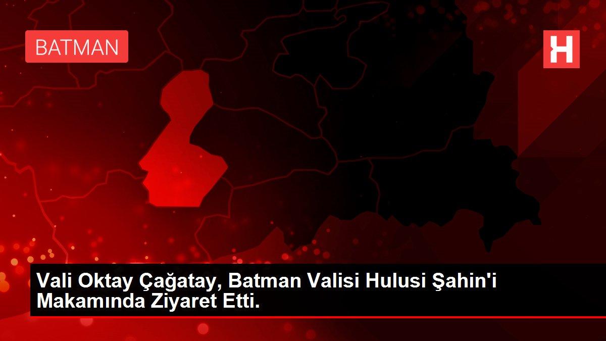 Vali Oktay Çağatay, Batman Valisi Hulusi Şahin'i Makamında Ziyaret Etti.
