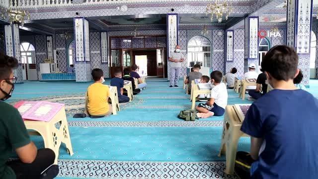 Yaz Kur'an kursları başlamasıyla camilerden çocuk sesleri yükselmeye başladı