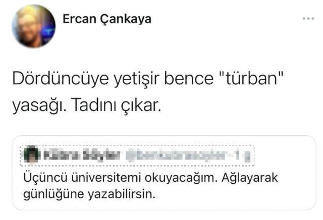 Başörtülülere nefret kusan doktora öğrencisi Twitter'da TT oldu! Tepki yağıyor