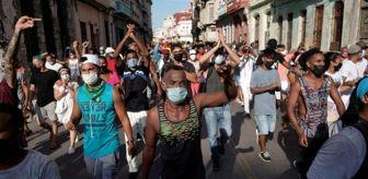Devrim: Küba'da yaklaşık son 30 yılın en büyük hükümet karşıtı gösterilerinde değişim çağrısı